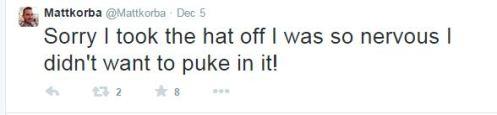 Matt korba tweet