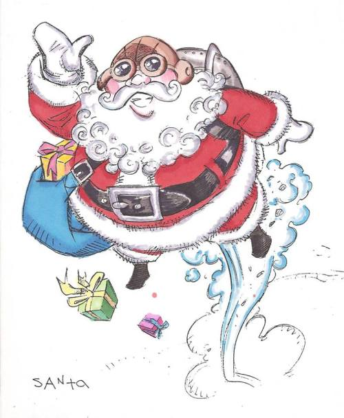 Santa. Original TJ&E concept art by Steve Purcell.